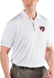 Antigua FC Dallas Mens White Salute Short Sleeve Polo