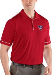 Antigua FC Dallas Mens Red Salute Short Sleeve Polo