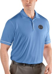 Antigua Philadelphia Union Mens Blue Salute Short Sleeve Polo