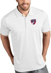 Antigua FC Dallas Mens White Tribute Short Sleeve Polo