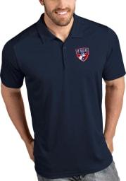 Antigua FC Dallas Mens Navy Blue Tribute Short Sleeve Polo