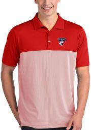 Antigua FC Dallas Mens Red Venture Short Sleeve Polo