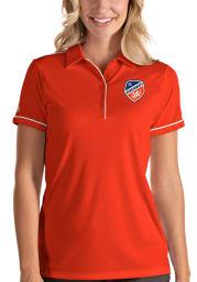 Antigua FC Cincinnati Womens Orange Salute Short Sleeve Polo Shirt