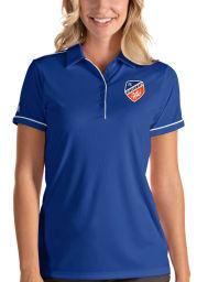 Antigua FC Cincinnati Womens Blue Salute Short Sleeve Polo Shirt
