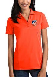 Antigua FC Cincinnati Womens Orange Tribute Short Sleeve Polo Shirt