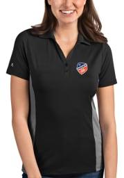 Antigua FC Cincinnati Womens Grey Venture Short Sleeve Polo Shirt