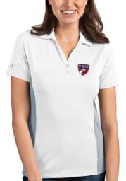 Antigua FC Dallas Womens White Venture Short Sleeve Polo Shirt