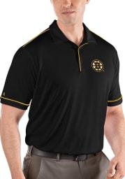 Antigua Boston Bruins Mens Black Salute Short Sleeve Polo