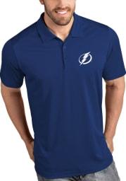 Antigua Tampa Bay Lightning Mens Blue Tribute Short Sleeve Polo