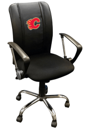 Calgary Flames Curve Desk Chair