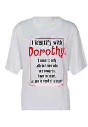 Wizard of Oz Womens White Identify With Dorothy Short Sleeve T Shirt