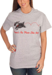 Wizard of Oz Womens Grey Toto No Place Like Home Short Sleeve T Shirt