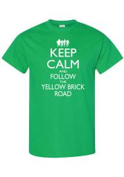 Wizard of Oz Womens Green Keep Calm Short Sleeve T Shirt