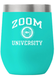 RALLY 12 oz Stemless Wine Stainless Steel Tumbler - Teal