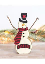 Nebraska Cornhuskers Resin Snowman Decor