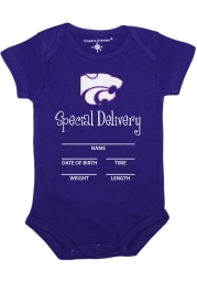 K-State Wildcats Baby Purple Special Delivery Short Sleeve One Piece