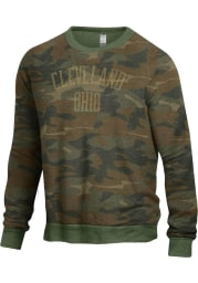Cleveland Mens Green Champ Crew Long Sleeve Crew Sweatshirt