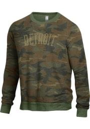 Detroit Mens Green Champ Crew Long Sleeve Crew Sweatshirt