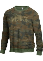 Wichita Mens Green Champ Crew Long Sleeve Crew Sweatshirt