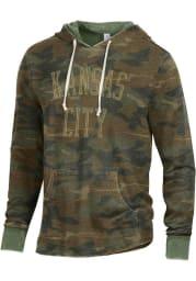 Alternative Apparel Kansas City Camo Long Sleeve Hood Sweatshirt