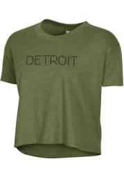 Alternative Apparel Detroit Women's Vintage Pine Disconnected Cropped Short Sleeve T-Shirt