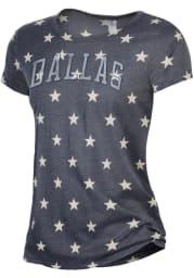 Alternative Apparel Dallas Women's Navy Stars Arched Wordmark Short Sleeve T-Shirt