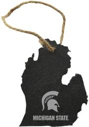 Michigan State Spartans Slate State Shape Ornament