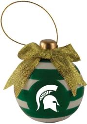 Michigan State Spartans Ceramic Bulb Ornament Ornament