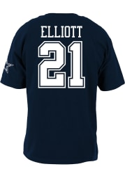 Ezekiel Elliott Dallas Cowboys Youth Navy Blue Name and Number Player Tee