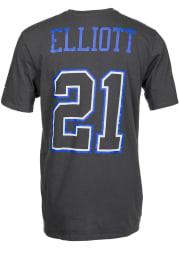 Ezekiel Elliott Dallas Cowboys Grey Name and Number Short Sleeve Player T Shirt