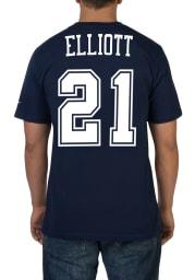 Ezekiel Elliott Dallas Cowboys Navy Blue Pride Short Sleeve Player T Shirt