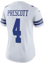 Dak Prescott Dallas Cowboys Apparel Dallas Cowboys Womens White Home Limited Football Jersey