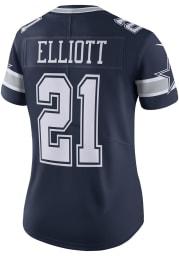 Ezekiel Elliott Dallas Cowboys Apparel Dallas Cowboys Womens Navy Blue Road Limited Football Jersey