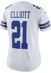 Ezekiel Elliott Dallas Cowboys Apparel Dallas Cowboys Womens White Home Limited Football Jersey