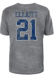 Ezekiel Elliott Dallas Cowboys Grey Rugged Elliott Short Sleeve Player T Shirt