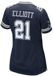 Ezekiel Elliott Nike Dallas Cowboys Womens Navy Blue Road Game Football Jersey