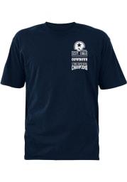 Dallas Cowboys Navy Blue 60th Banner Short Sleeve T Shirt