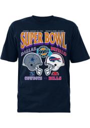 Dallas Cowboys Navy Blue 60th vs Bills Short Sleeve T Shirt