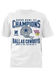 Dallas Cowboys White SB XII 78 Short Sleeve T Shirt