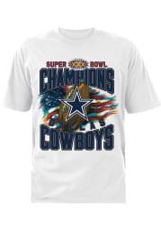 Dallas Cowboys White SB XXX 96 Short Sleeve T Shirt