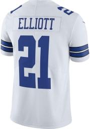 Ezekiel Elliott Dallas Cowboys Apparel Dallas Cowboys Mens White Home Limited Football Jersey