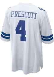 Dak Prescott Nike Dallas Cowboys White Home Game Football Jersey