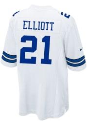 Ezekiel Elliott Nike Dallas Cowboys White Home Game Football Jersey