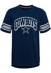 Dallas Cowboys Boys Navy Blue Victorious Short Sleeve Fashion Tee
