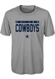 Dallas Cowboys Boys Grey Training Camp Short Sleeve T-Shirt