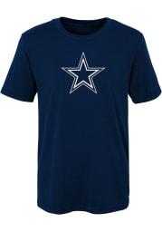 Dallas Cowboys Boys Navy Blue Primary Logo Short Sleeve T-Shirt