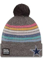 New Era Dallas Cowboys Grey 2021 Crucial Catch W Cuff Womens Knit Hat