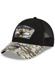 New Era Dallas Cowboys 2021 Salute to Service Trucker 9FORTY Adjustable Hat - Black