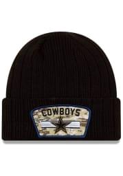 New Era Dallas Cowboys Black 2021 Salute to Service Sport Mens Knit Hat
