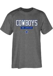 Michael Irvin Dallas Cowboys Grey Akron Short Sleeve Player T Shirt